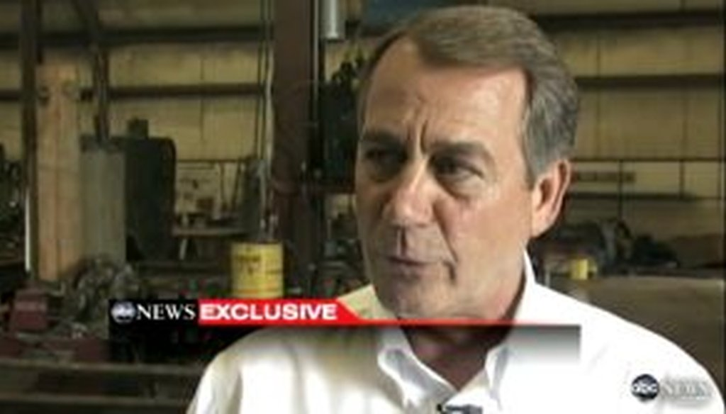 "In an interview with ABC News, John Boehner said that President Barack Obama ""took exactly none of his own deficit reduction commission's ideas. Not one."" We checked to see if Boehner is correct."