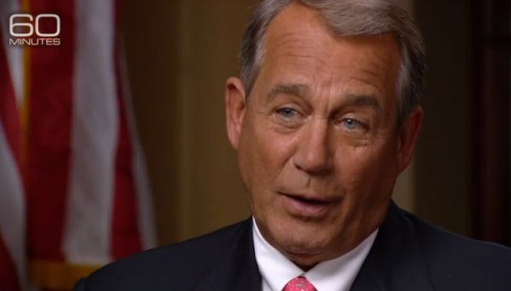 House Speaker John Boehner, R-Ohio, appeared on CBS'
