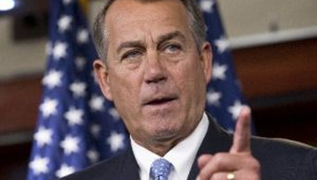 House Speaker John Boehner, R-Ohio, wrote that President Barack Obama has promised not to sign any bill that doesn't restore sequestration cuts. We checked Boehner's claim.