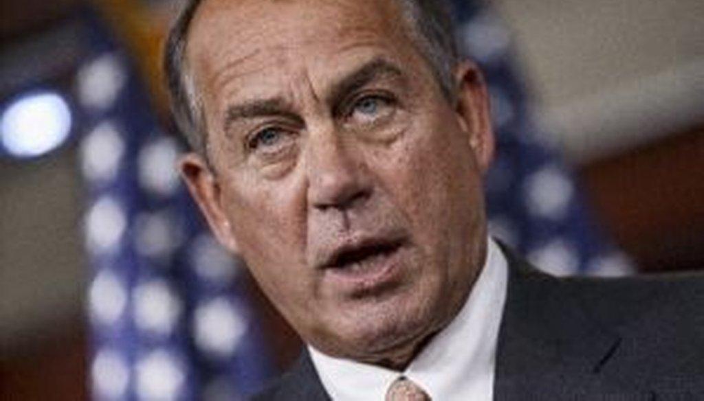 House Speaker John Boehner, R-Ohio, speaks during a news conference in Washington on Sept. 12, 2013.