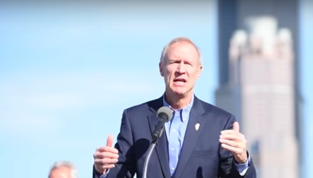 """Gov. Bruce Rauner talks about the University of Illinois and its connection to """"The 78,"""" a 62-acre development site on Oct. 19, 2017. (YouTube)"""