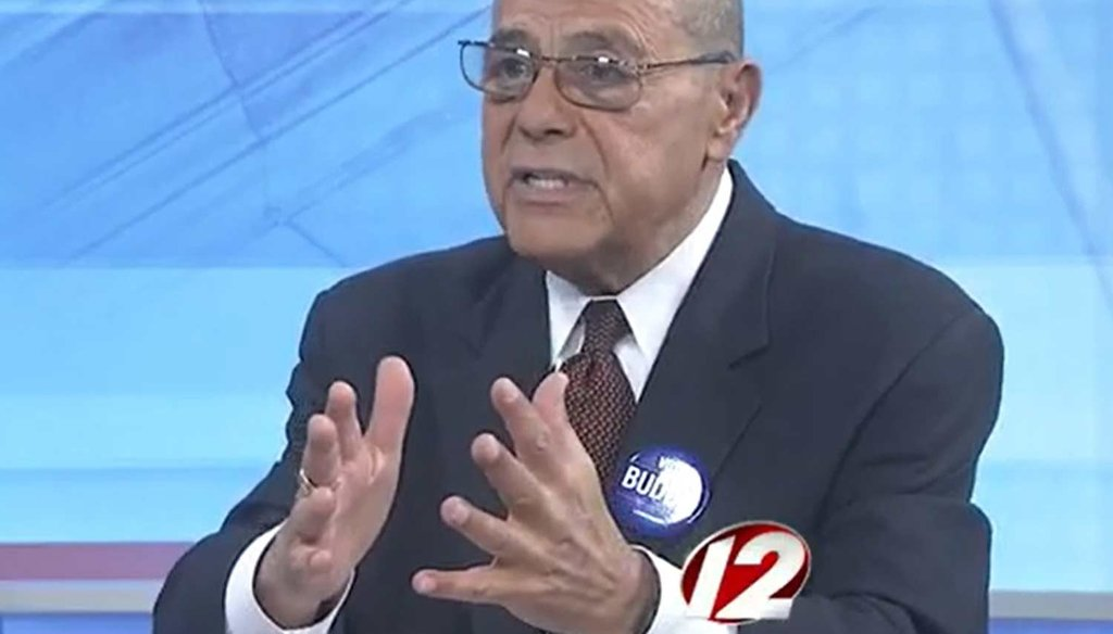 "Vincent ""Buddy"" Cianci during his appearance on ""Newsmakers."" (Courtesy WPRI-TV)"