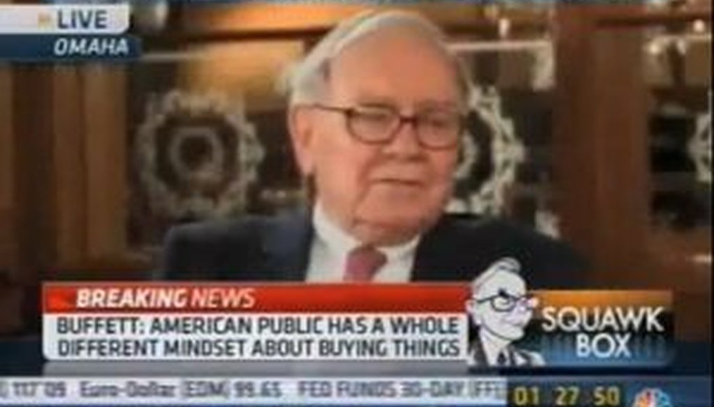 In a CNBC interview in 2010, investor Warren Buffett offered skepticism about the bill that ultimately became Obamacare. Some bloggers suggested his comments were recent.