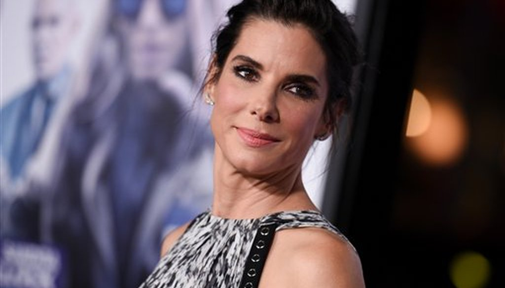 """Actress Sandra Bullock arrives at the LA Premiere of """"Our Brand is Crisis"""" held at the TCL Chinese Theatre on Monday Oct. 26, 2015, in Los Angeles. (AP)"""