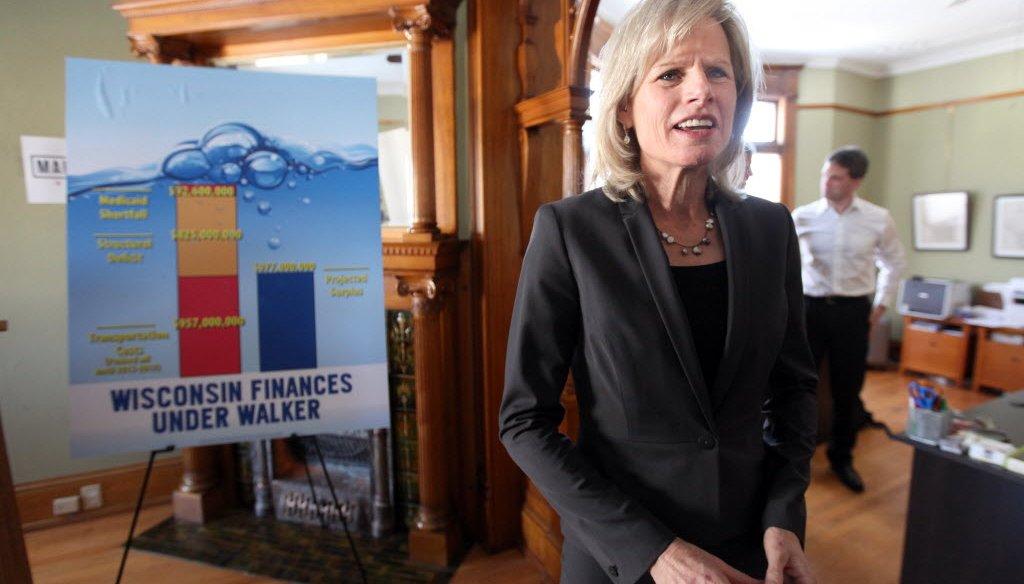 Democratic gubernatorial candidate Mary Burke has criticized Republican Gov. Scott Walker's handling of state finances.