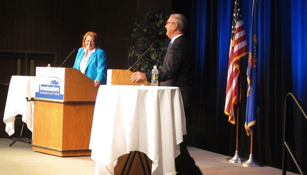 In the final debate for U.S. Senate in North Dakota, incumbent Heidi Heitkamp accused U.S. Rep. Kevin Cramer of taking away coverage for pre-existing conditions.