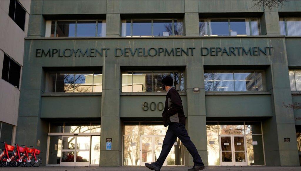 The California Employment Development Department in Sacramento, Calif. (AP)