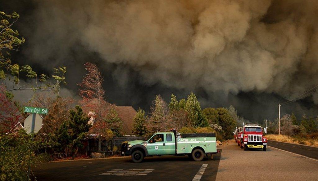 The Camp Fire rages through Paradise, Calif., on Thursday, Nov. 8, 2018. Noah Berger / AP Photo