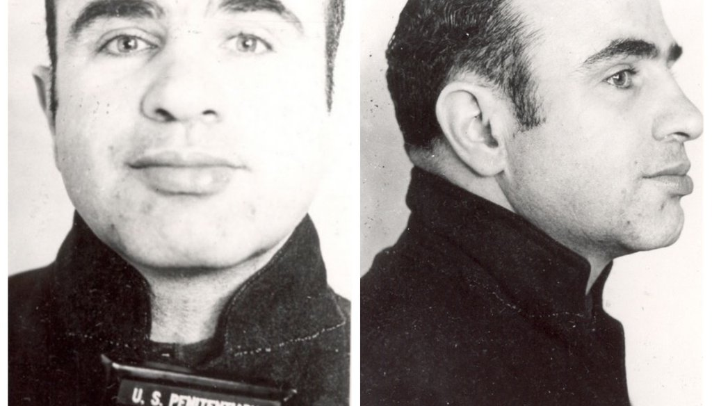 Chicago mobster Al Capone went to prison for not paying his taxes. (FBI)