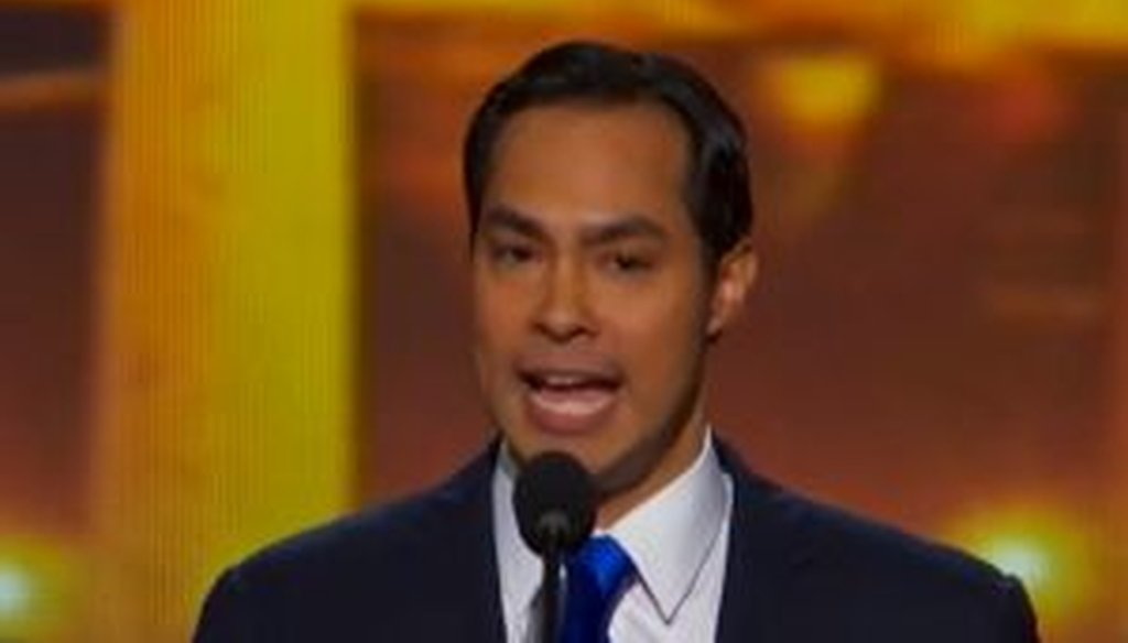 San Antonio mayor Julian Castro gives the keynote address at the 2012 Democratic National Convention in Charlotte, N.C.