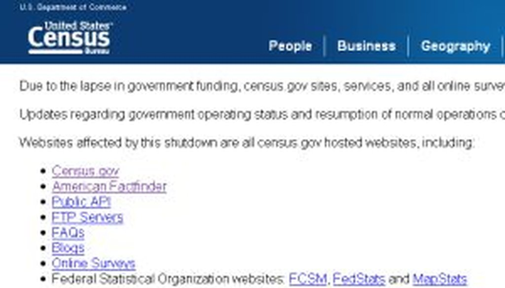 The Census Bureau's website, a trove of demographic data for researchers, has gone entirely offline due to the shutdown.