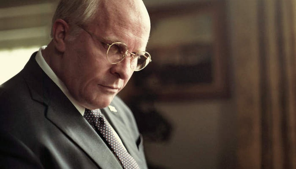 Christian Bale transforms himself to play Dick Cheney in the movie Vice. (Courtesy of Greig Fraser/Annapurna Pictures)