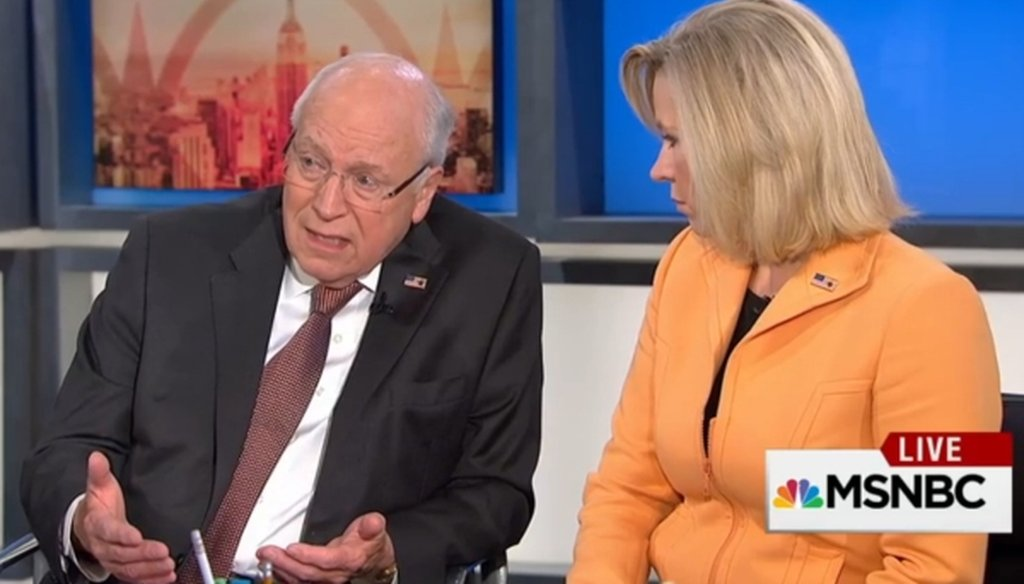 "Former Vice President Dick Cheney and his daughter Liz Cheney appeared on MSNBC's ""Morning Joe"" on Sept. 2, 2015."