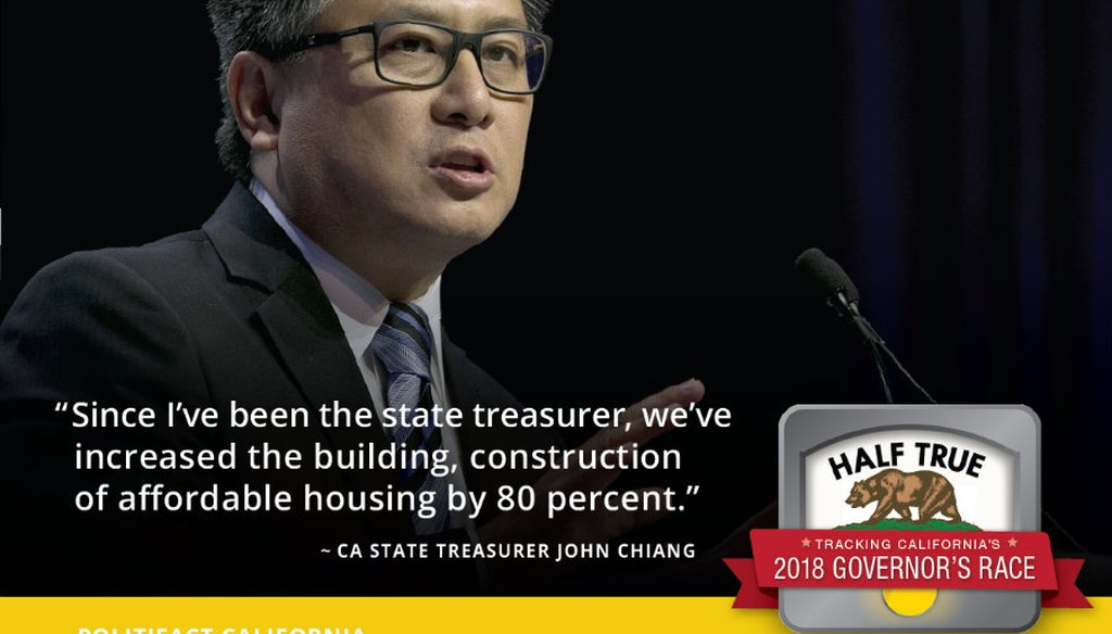 California state Treasurer John Chiang, a candidate for governor, speaks at the California Democratic Party's annual convention, Saturday, May 20, 2017, in Sacramento, Calif. (AP Photo/Rich Pedroncelli)