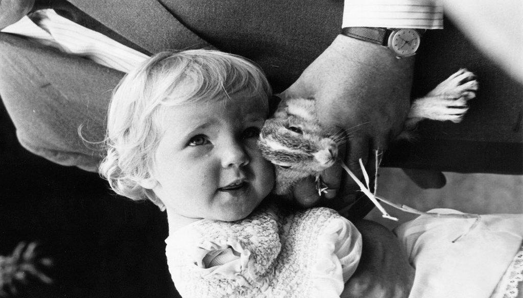 A baby in England who was born with disabilities due to the drug thalidomide, July 24, 1963 (AP).