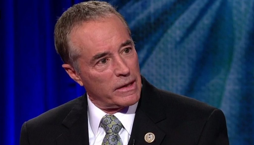 Rep. Chris Collins, R-Clarence, speaks during a CNN town hall on March 16, 2017.