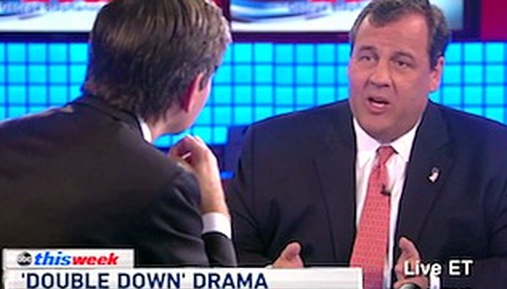 New Jersey Gov. Chris Christie appeared on ABC, NBC, CBS and FOX on Sunday Nov. 10, 2013.