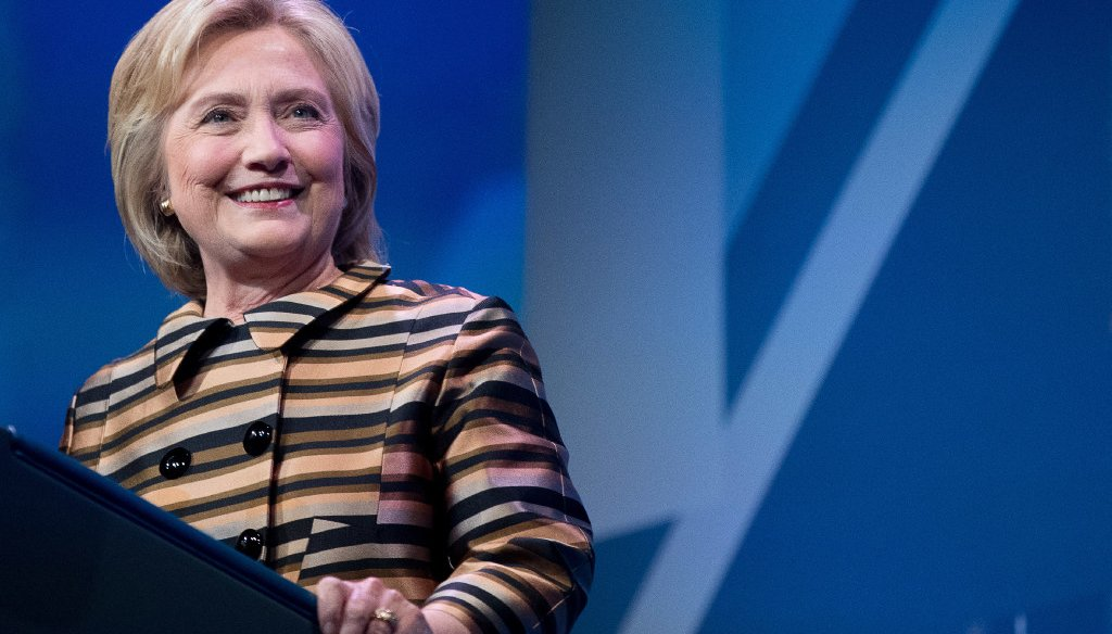 Hillary Clinton at a gala of the Congressional Hispanic Caucus Institute in Washington on Sept. 15. (AP)