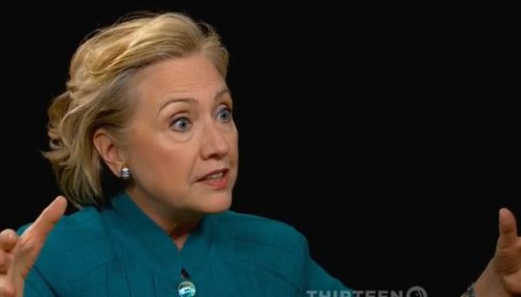 Former Secretary of State Hillary Clinton made a striking comparison between presidents Bill Clinton and Ronald Reagan in a recent interview with PBS' Charlie Rose. We took a closer look.