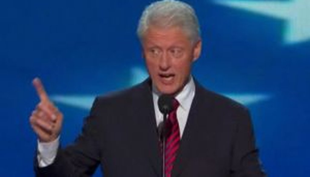 Former President Bill Clinton addresses the Democratic National Convention in Charlotte, N.C.