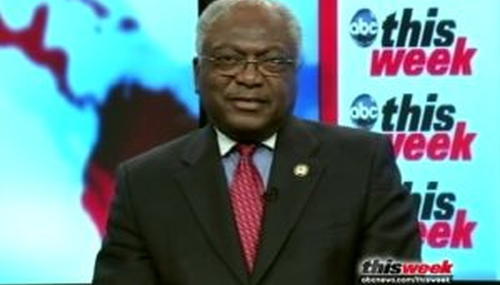 "Rep. James Clyburn, the third-ranking Democrat in the House, appeared on ABC's ""This Week with Christiane Amanpour"" on June 26, 2011. We checked a claim he made about the Democratic position on taxes."
