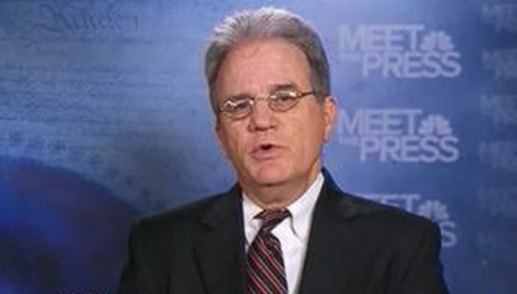 """On """"Meet the Press,"""" Sen. Tom Coburn, R-Okla., said that the size of government had doubled in 10 years. Is he right?"""