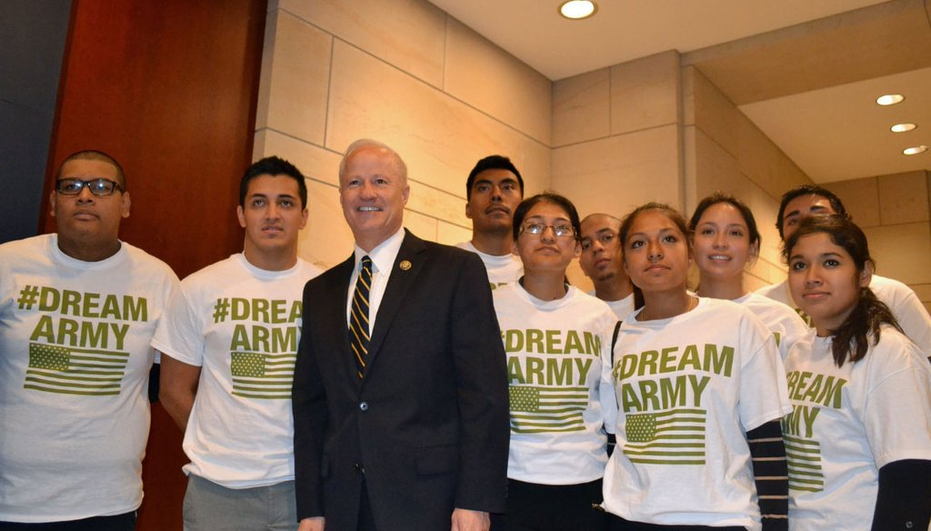 Rep. Mike Coffman stands with the Dream Army in 2013 - Coffman Staff Photo