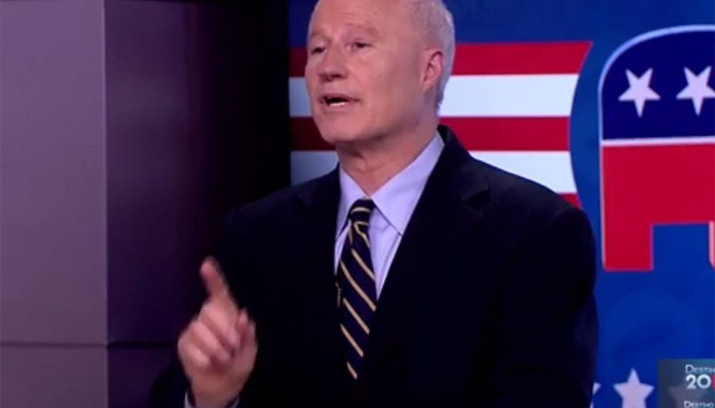 Mike Coffman speaks Spanish in a Univision debate on Oct. 4, 2016