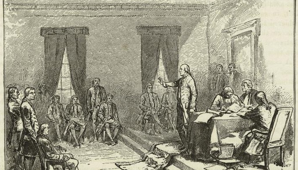 The Constitutional Convention in Philadelphia in 1787 (Wikimedia commons)