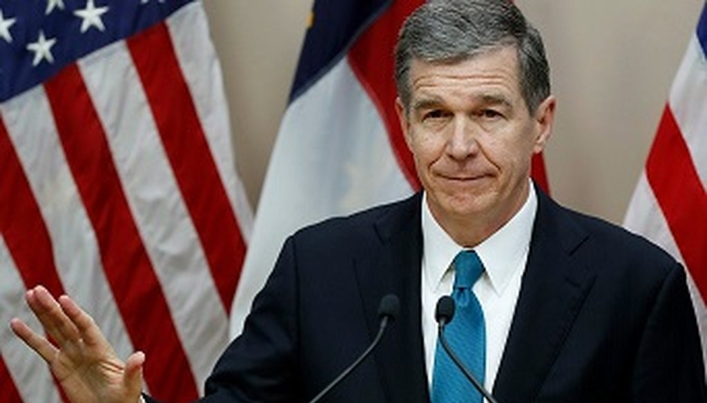 "On Dec. 26, 2018, Roy Cooper said a bill passed by the GOP-controlled legislature ""makes it harder to prosecute people and groups that violate campaign finance laws."""