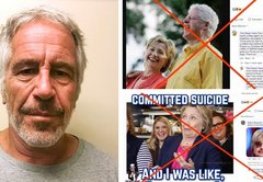 There's no evidence that the Clintons were involved in Jeffrey Epstein's death