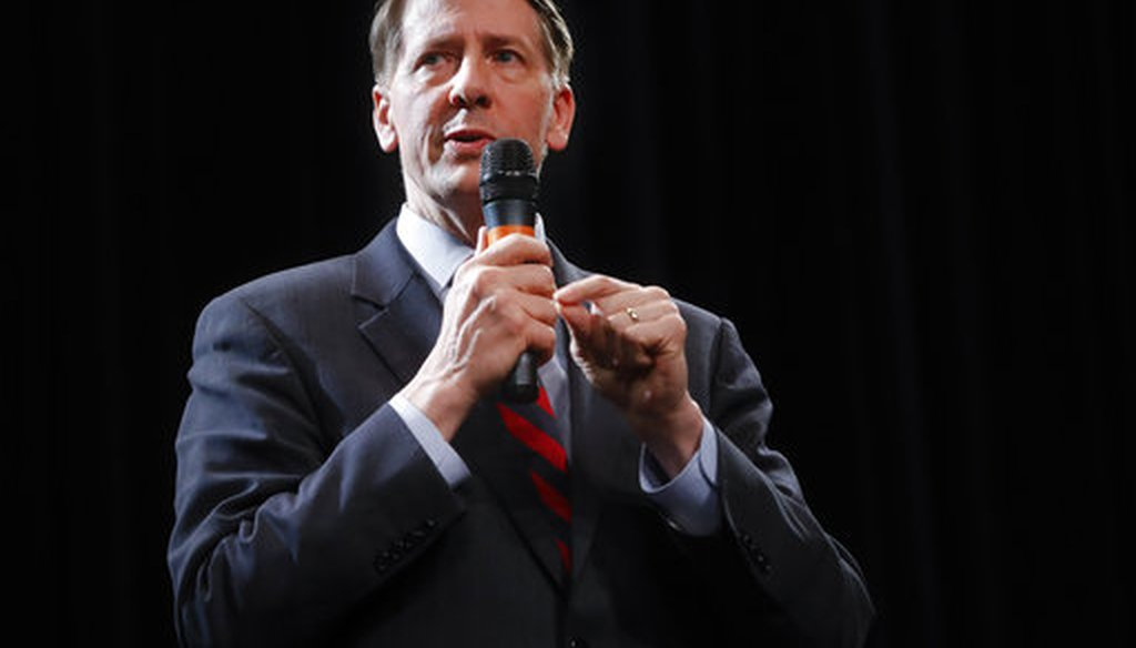 Richard Cordray is the Democratic candidate for governor in Ohio in 2018. (AP)