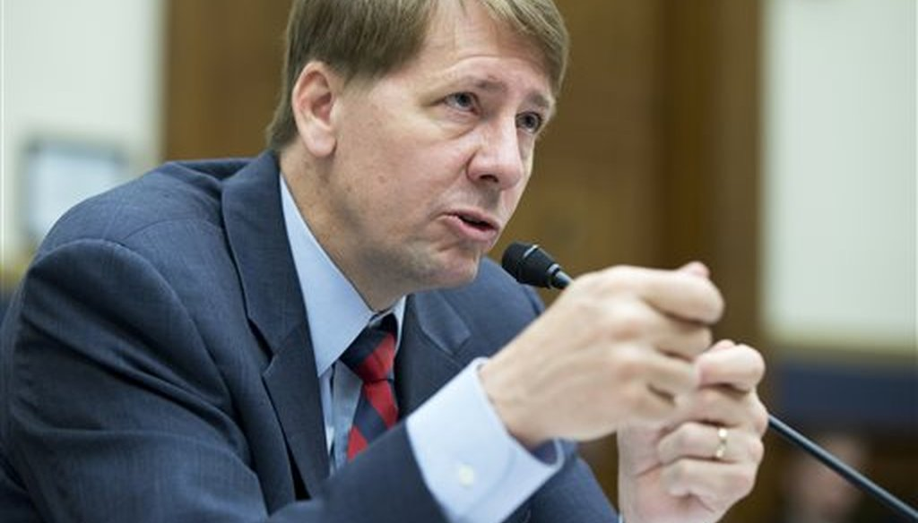 In this Sept. 12, 2013 file photo, Consumer Financial Protection Bureau (CFPB) Director Richard Cordray testifies on Capitol Hill in Washington. (AP)