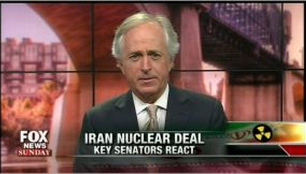 Sen. Bob Corker, R-Tenn., appears on Fox News Sunday