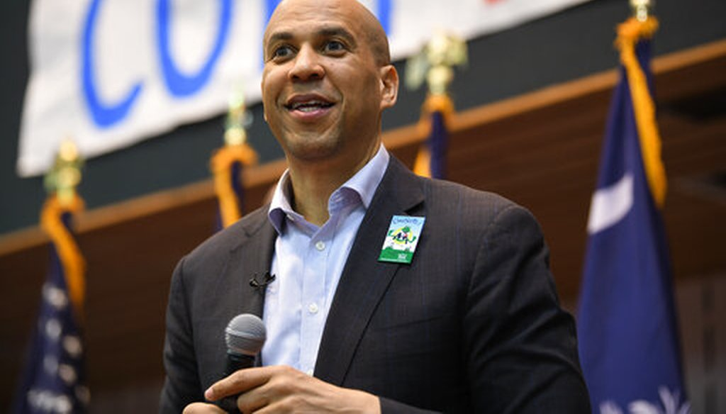 2020 Democratic presidential candidate Sen. Cory Booker speaks during a town hall meeting in Rock Hill, S.C., on Saturday, March 23, 2019. (AP)