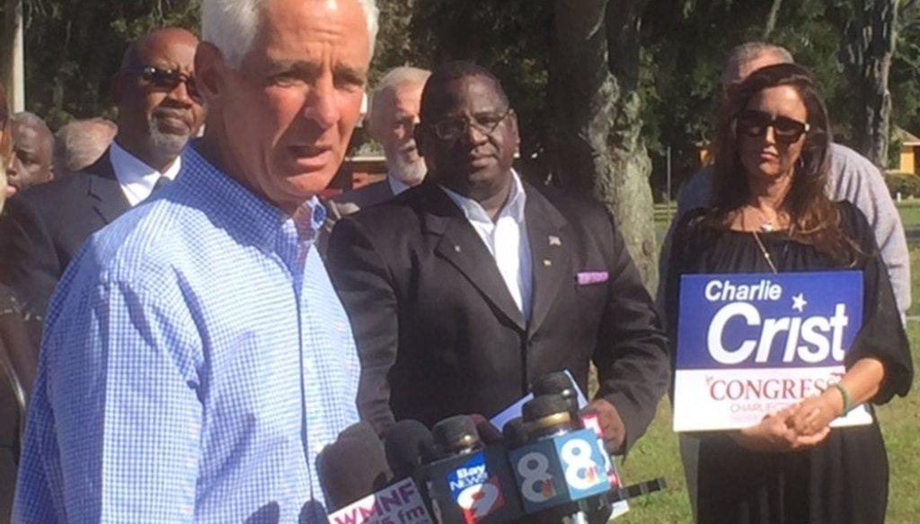 Former Gov. Charlie Crist announced he will run for Congress on Oct. 20, 2015. (Tampa Bay Times)