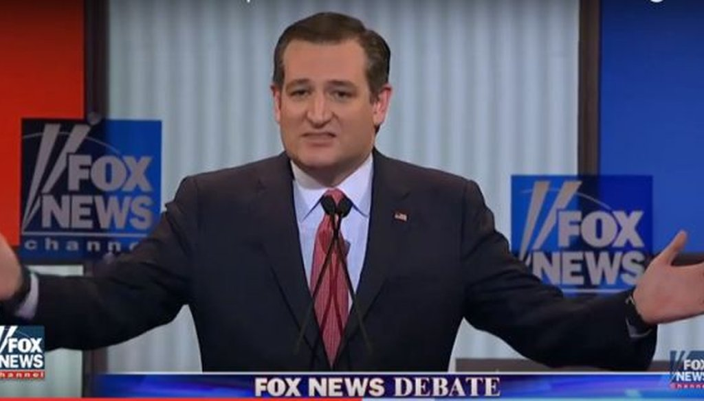 Sen. Ted Cruz, R-Texas, was one of four candidates participating in a presidential debate in Detroit.