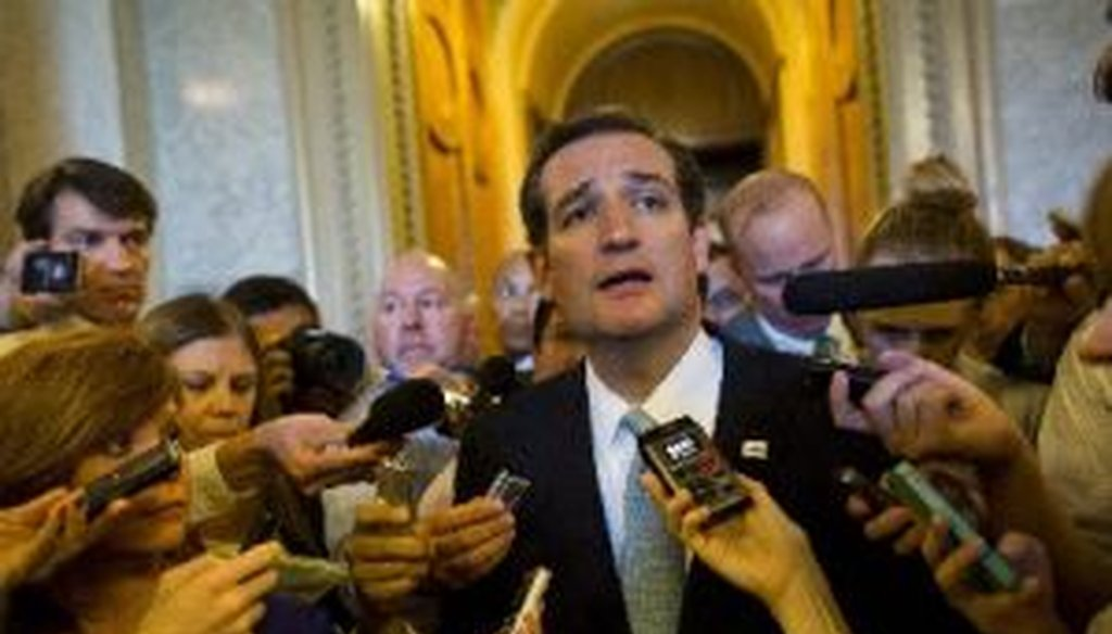 Sen. Ted Cruz, R-Texas, has been the leading lawmaker in favor of using leverage on spending bills to force defunding or delays on Obamacare.