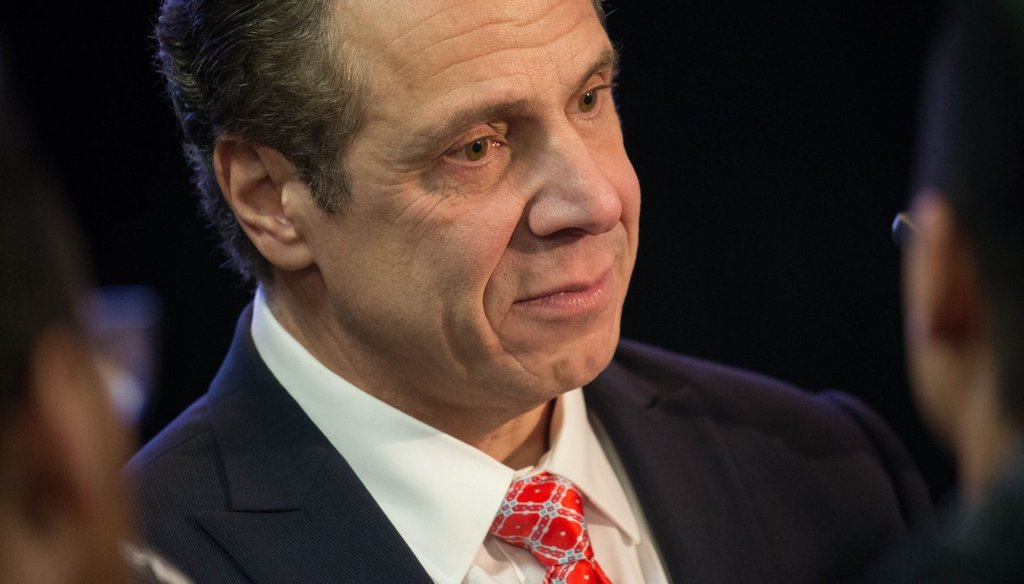 Gov. Andrew Cuomo claimed that he received more Democratic primary votes than his predecessors
