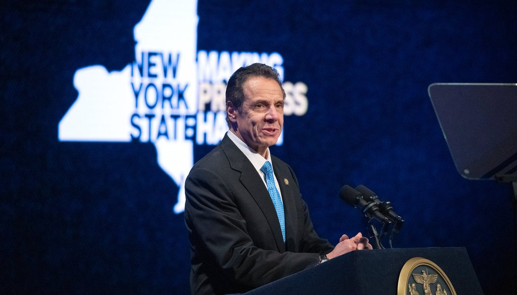 Gov. Andrew Cuomo delivers his State of the State address in Albany on Jan. 8, 2020. (Courtesy Gov. Andrew Cuomo/Flickr)