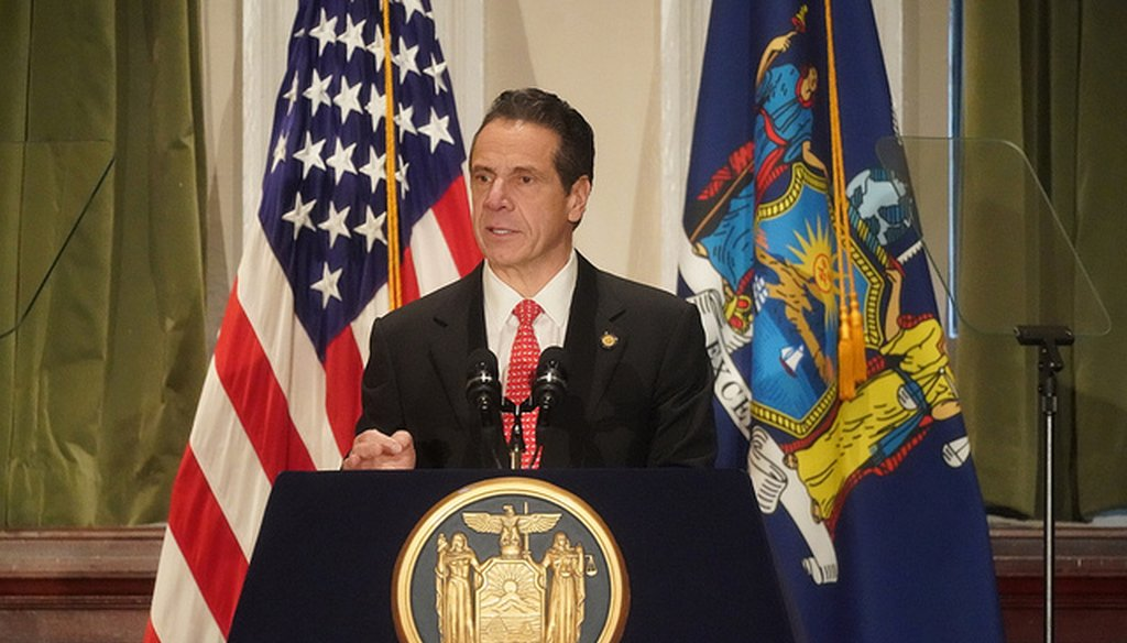 "Gov. Andrew Cuomo delivered a speech outlining his ""2019 Justice Agenda"" on Dec. 17, 2018, in New York City."