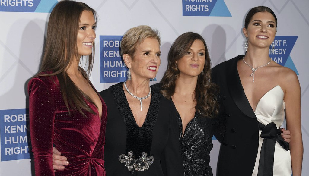 Despite a social media rumor, none of New York Gov. Andrew Cuomo's daughters, pictured here with their mother in 2019,are getting married soon. From left, Mariah Kennedy Cuomo, Kerry Kennedy, Cara Cuomo and Michaela Cuomo. (AP)