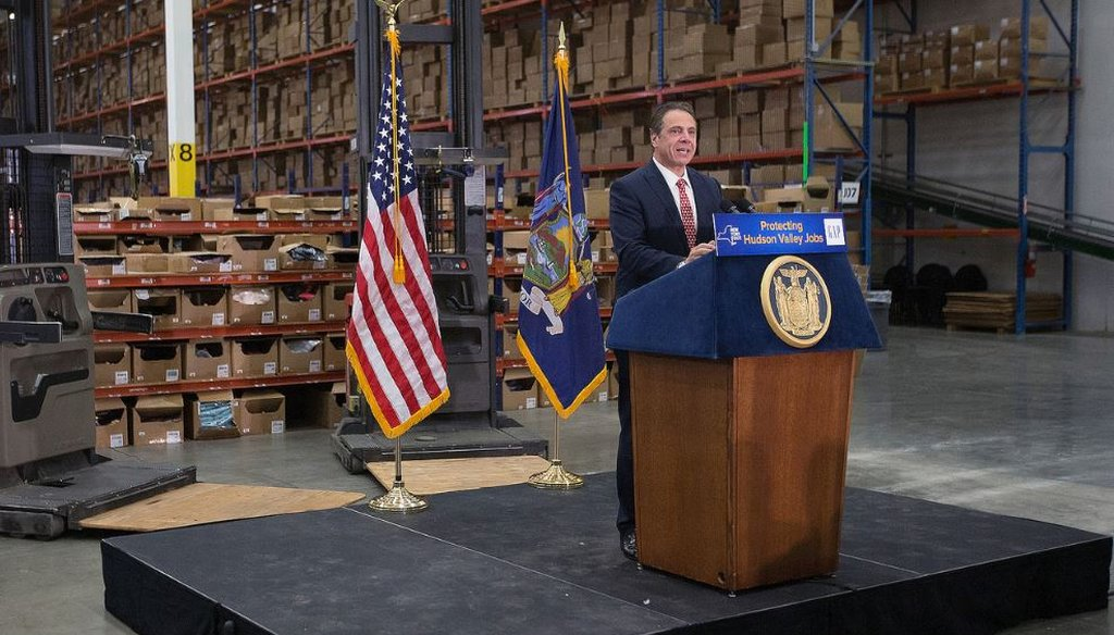 Gov. Cuomo delivers remarks at an event in Fishkill, NY on Nov. 16, 2016