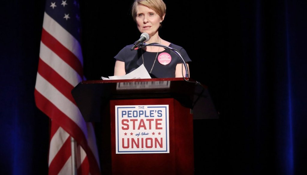 Cynthia Nixon, a Democrat, attacked Gov. Andrew M. Cuomo's record on tax breaks for corporations and wealthy New Yorkers in a speech announcing her run for governor. (Getty images)