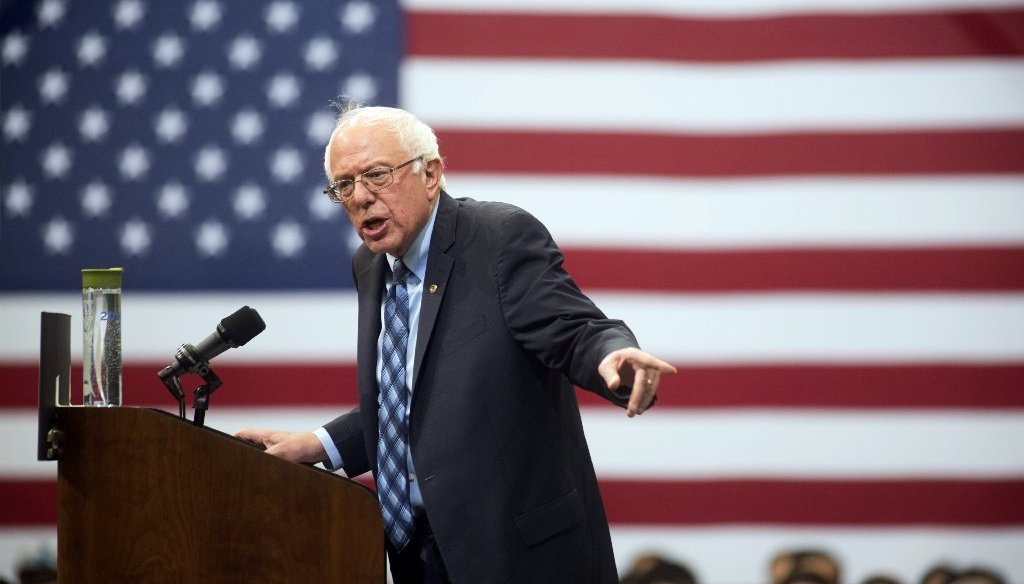 Democratic presidential candidate Bernie Sanders criticized the Koch brothers' conservative influence during an Oct. 28 rally at George Mason University. (AP photo)