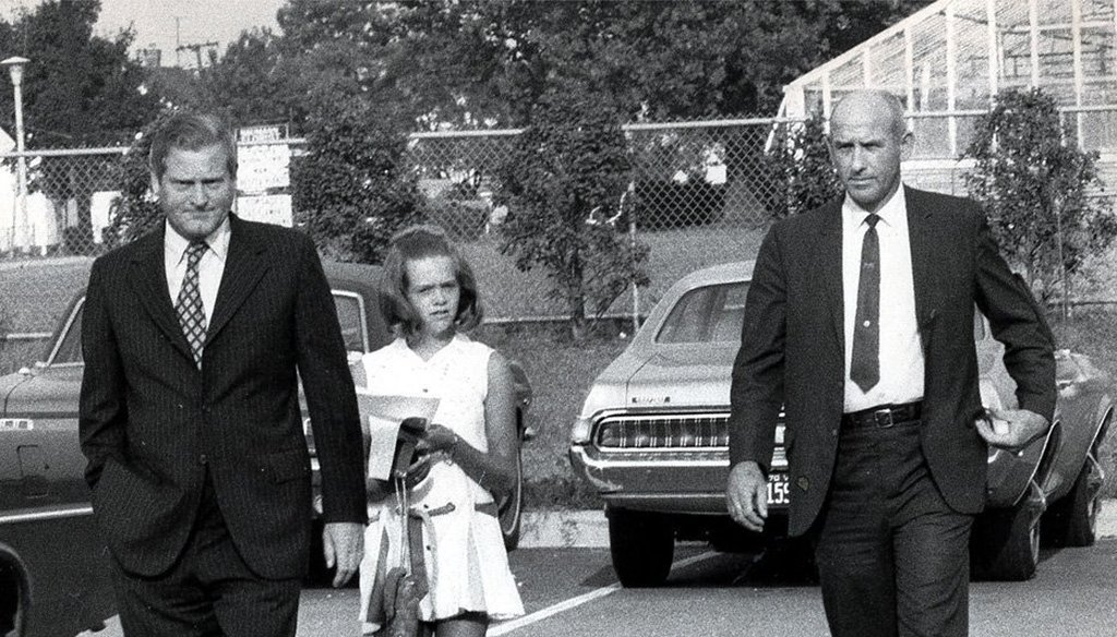 In August 1970, then Gov. Linwood Holton enrolled his 13-year-old daughter, Tayloe, in Richmond's predominantly black John F. Kennedy High School. (Richmond Times-Dispatch photo).