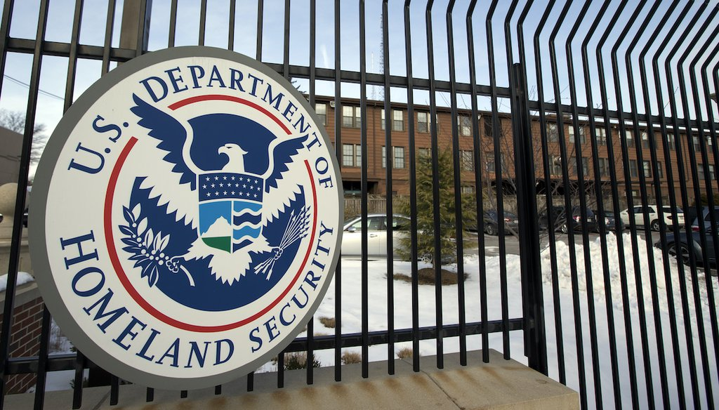 """The Department of Homeland Security on Aug. 13, 2021, issued a bulletin that warned of a """"current heightened threat environment across the United States."""" One popular social media post twisted its meaning into a false claim. (AP)"""