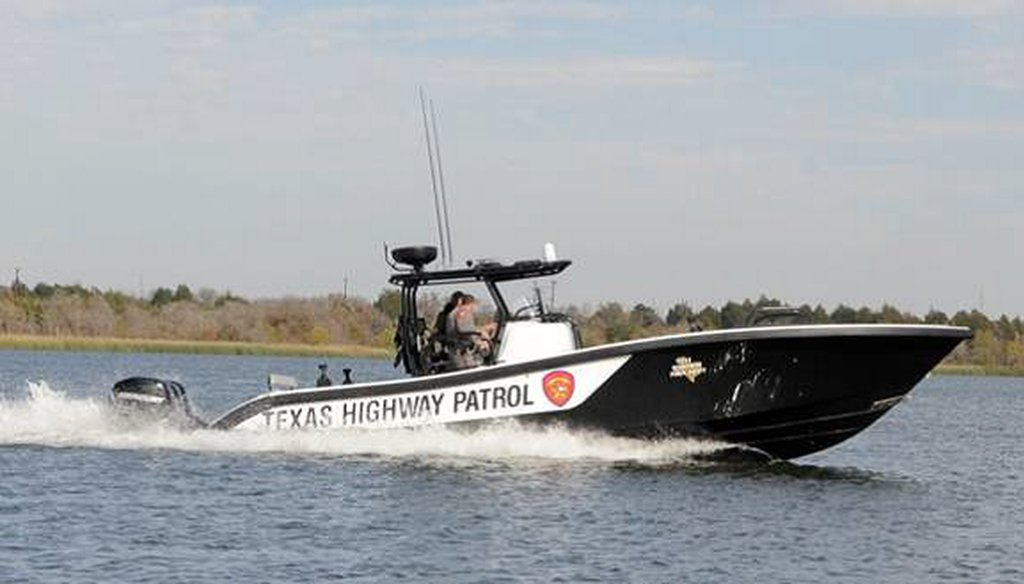 """The Tactical Marine Unit of Texas' Highway Patrol is already using two of these 34-foot powerboats, and four more are on the way, said Department of Public Safety spokesman Tom Vinger. But they're not called a """"navy.""""  Photo courtesy Texas DPS"""