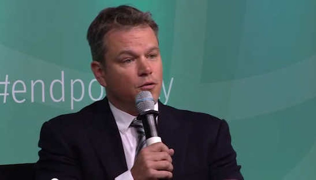 Actor Matt Damon talked with World Bank president Jim Yong Kim about making water affordable for the poor. (World Bank)