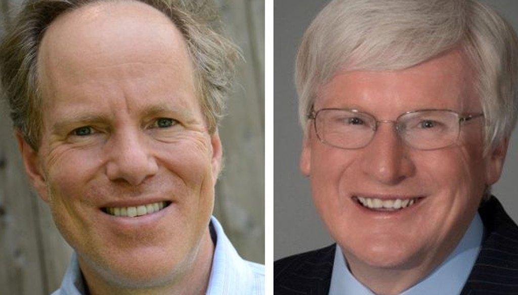Democrat Dan Kohl (left), the nephew of former U.S. Sen. Herb Kohl, is running against two-term Republican U.S. Rep. Glenn Grothman.